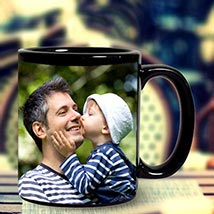 Personalized Black Mug: Birthday Gifts for Father
