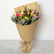 Beautiful Tulips Bouquet: Birthday Gifts for Employees