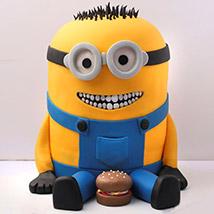 Lovable Minion With A Burger Cake 3 Kg: Minion Cake