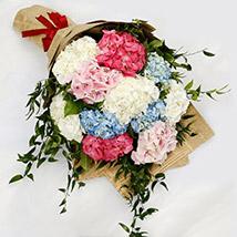 Elegant Hydrangea Bouquet: Premium Flowers