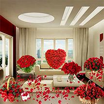 Magical Surprise With Rose Flower Arrangements: