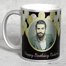 Personalised Silver Birthday Mug: