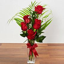 Beautiful Red Rose Arrangement: Birthday Flower Arrangements