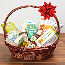 Mint Green Tea and Snacks Basket: National Day Gifts
