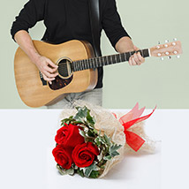 Express Love With Music: Flowers and Guitarist Service