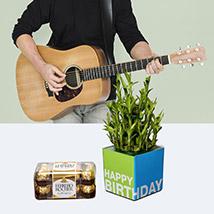 Lucky Musical Birthday Surprise: Flowers & Guitarist Service