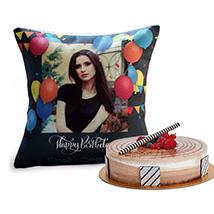 Birthday Balloon Cushion and Triple Choco Cake: