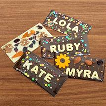 Personalised Milk Chocolate Bar: Personalised Chocolates
