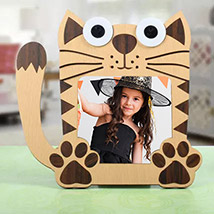 Cat Shaped Photo Frame: Personalized Gifts Same Day Delivery