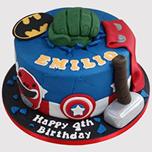 Avengers Themed Fondant Cake: Avengers Cakes