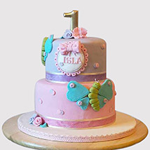 Beautiful 2 Tier Butterfly Cake: Butterfly Theme Cakes