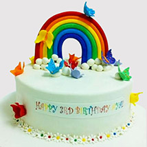 Butterfly Rainbow Cake: Butterfly Theme Cakes