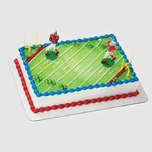 Football Field Cake: Football Theme Cake