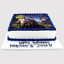 Fortnite Battle Photo Cake: Fortnite Birthday Cakes