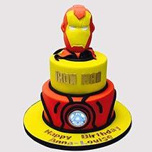 Iron Man Fondant Theme Cake: Iron Man Birthday Cake