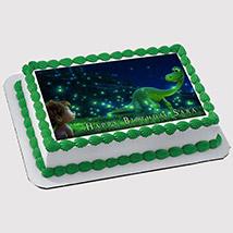 Magical Dinosaur Photo Cake: Birthday Cakes for Boys/Girls