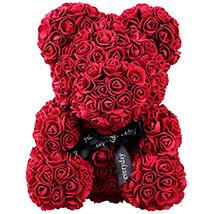 Artificial Roses Teddy Maroon: Rose Teddy Bears