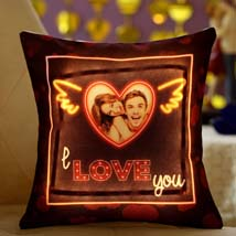 I L U Personalised LED Cushion: Personalised Gifts for Girlfriend