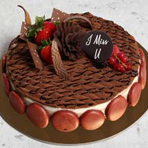 Miss You 4 Portion Chocolate Cake: