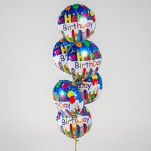 Happy Birthday Foil Balloons: Balloons