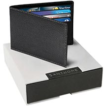Classic Mens Wallet  Black: Leather Wallet