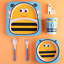 Honey Bee Bamboo Tableware Set: Back to School Gifts