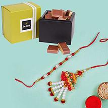 Lumba Set and Patchi Chocolates:  Rakhi Delivery