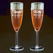 Personalised Engraved Juice Glass: Personalised Gifts for Anniversary