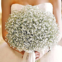White Gypsophila Bridal Bouquet: Wedding Bouquets