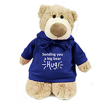 Super Soft Mascot Bear With Blue Hoodie: Soft Toys