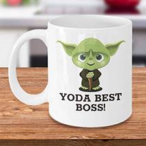 Yoda Best Boss Mug: Boss Day Gifts