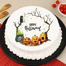Evil Pumpkin Photo Cake: Halloween Themed Cakes