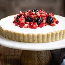 Mixed Berries and Fresh Mascarpone Gluten Free Tart: