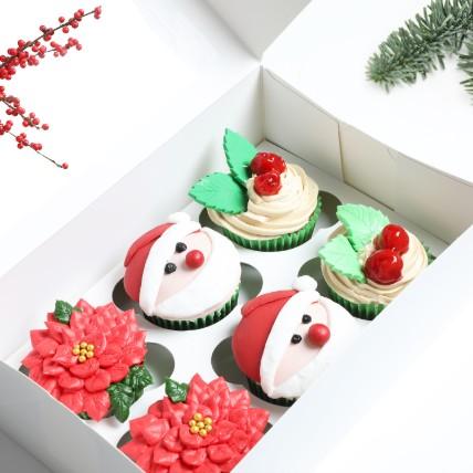 Assorted Christmas Cup Cakes: Christmas Cake