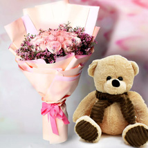 Just Sending You Lots of Love: Flowers and Teddy Bears
