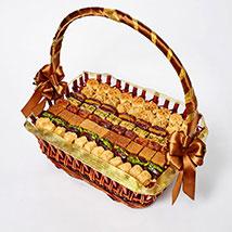 Stuffed Dates and Baklava Basket:  Arabic Sweet Shop