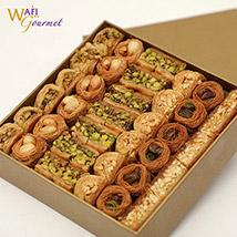 A Medium Box of Luxury Baklava Mix 875g: Wafi Gourmet