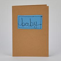 Baby Blue Handmade Greeting Card: Newborn Baby Gift Ideas