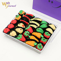 Box of Marzipan Fruits Shaped Sweets: Dubai Sweets