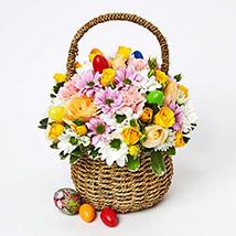 Exotic Flowers Basket Arrangement: Easter Gifts