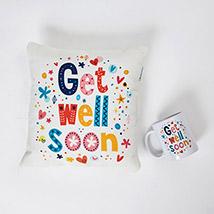 Get Well Soon Cushion N Mug Combo: Personalised Cushions