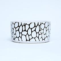 White and Black Medium Ceramic  Medium Pot: