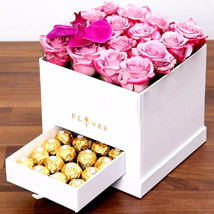 Hues Of Purple and Chocolates: Flowers and Chocolates