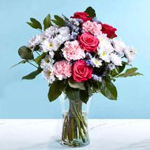 Pink and White Flower Vase: Flowers Shop Dubai