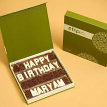 Customized Happy Birthday Chocolate: Personalised Gifts to Abu Dhabi