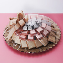 Pink and Golden Chocolate Tray: Chocolates For Anniversary