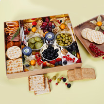 Small Cheese Box with Condiments: Birthday Gift Hampers