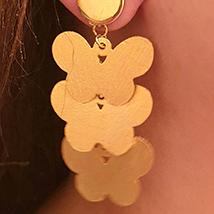 Handmade Earrings Gold Plated: Ladies Earrings