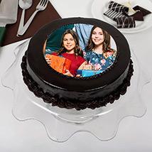 Chocolate Truffle Birthday Special Photo Cake: Chocolate Cake