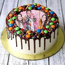 MNM Chocolate Birthday Photo Cake: Photo Cakes